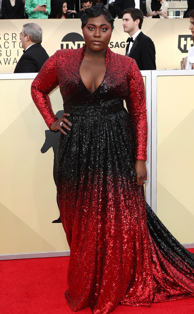 danielle brooks from standout style moments at sag awards. Black Bedroom Furniture Sets. Home Design Ideas
