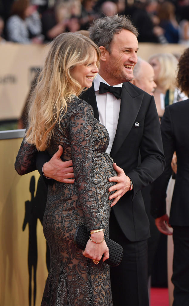 Jason Clarke, Cecile Breccia, Couples, SAG Awards, 2018