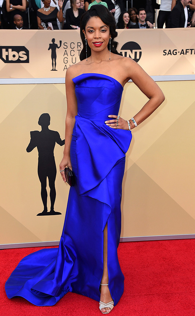 Susan Kelechi Watson, 2018 SAG Awards, Red Carpet Fashions