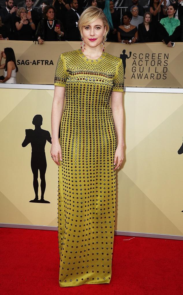 Greta Gerwig, 2018 SAG Awards, Red Carpet Fashions