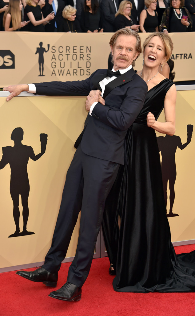 William H. Macy, Felicity Huffman, 2018 SAG Awards, Candids