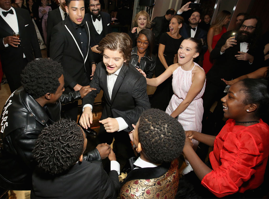 Caleb McLaughlin, Crystal McLaughlin, Millie Bobby Brown, Lonnie Chavis, Marsai Martin, Miles Brown, Marc, SAG Awards, 2018, Party Pics