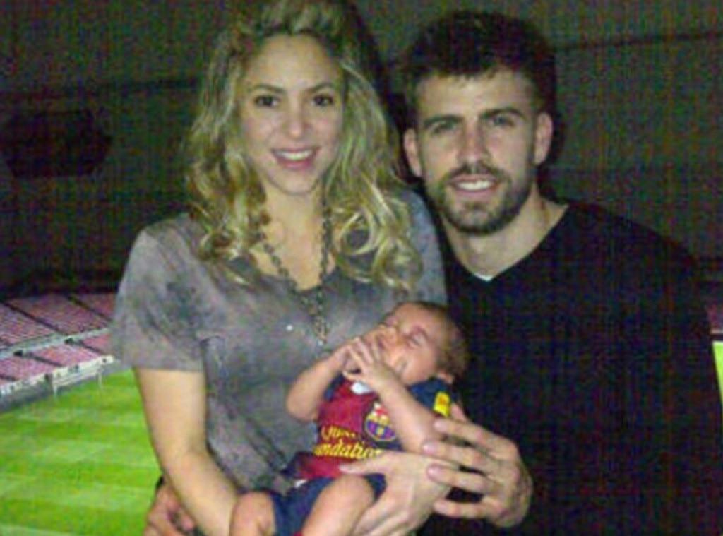 Shakira, Milan Piqué, Gerard Piqué