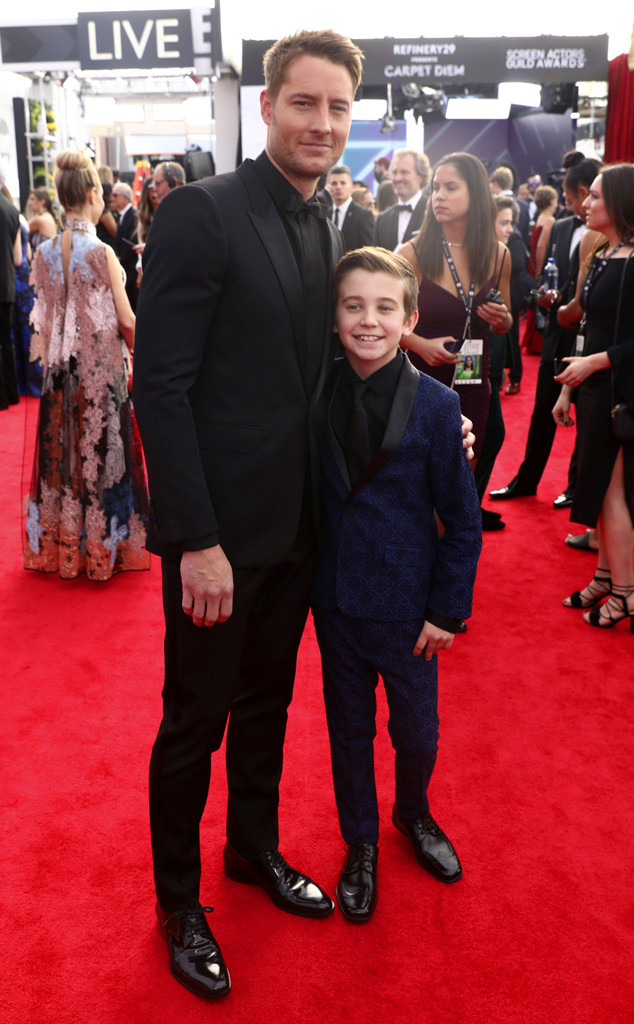 Justin Hartley, Parker Bates, 2018 SAG Awards