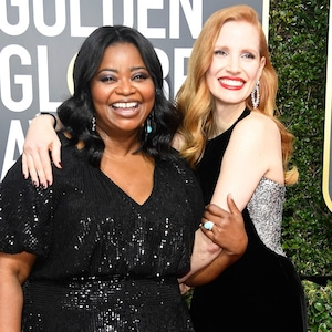 Octavia Spencer, Jessica Chastain, 2018 Golden Globes