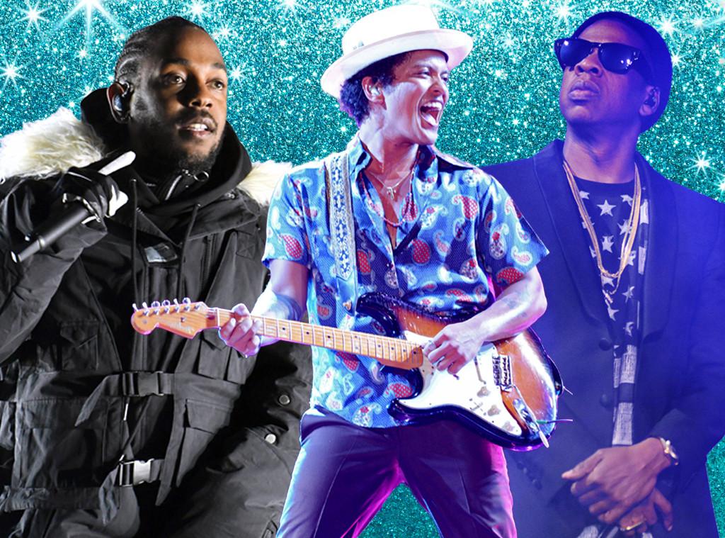 Bruno Mars, Kendrick Lamar, Jay-Z