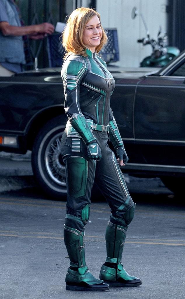 Brie Larson S Captain Marvel Costume Isn T What Fans Expected E Online Uk Kids captain marvel economy hero suit costume. captain marvel costume isn t