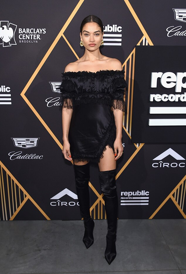 Shanina Shaik, Republic Records, Pre-Grammy Party, 2018 Grammys