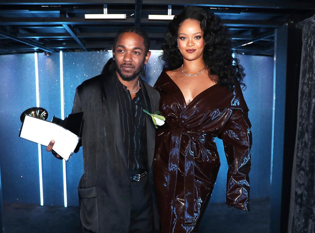 Kendrick Lamar, Rihanna, 2018 Grammy Awards, Candids