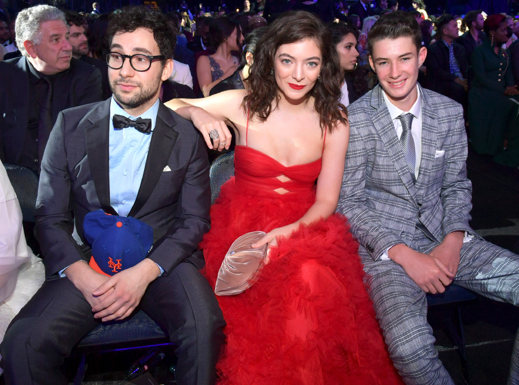 Jack Antonoff, Lorde, Angelo Yelich-O'Connor, 2018 Grammy Awards, Candids