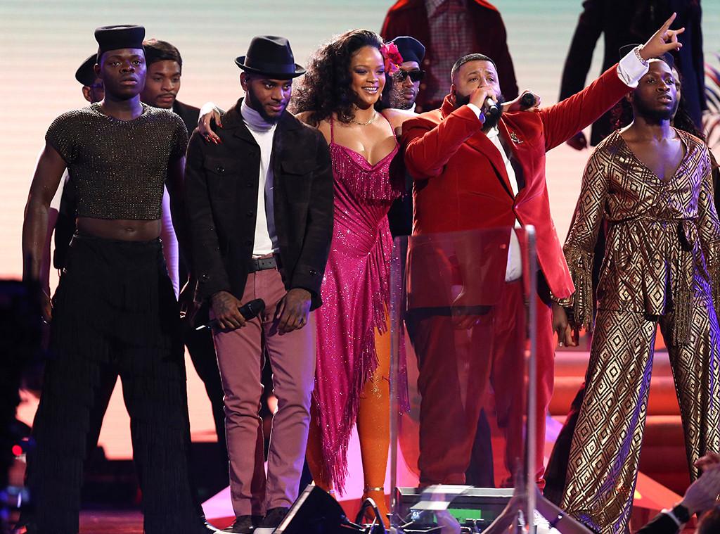 2018 Grammys: Rihanna, DJ Khaled And Bryson Tiller Receive Standing