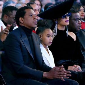 Jay-Z, Blue Ivy and Beyonce, 2018 Grammy Awards