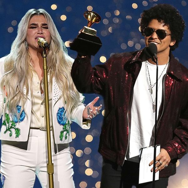 2018 Grammys, Kesha, Bruno Mars