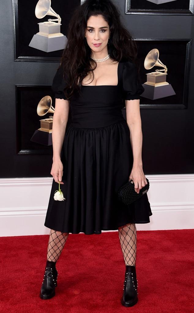 Sarah Silverman, 2018 Grammy Awards, Red Carpet Fashions