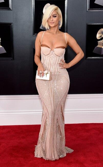 Bebe Rexha, 2018 Grammy Awards, Red Carpet Fashions