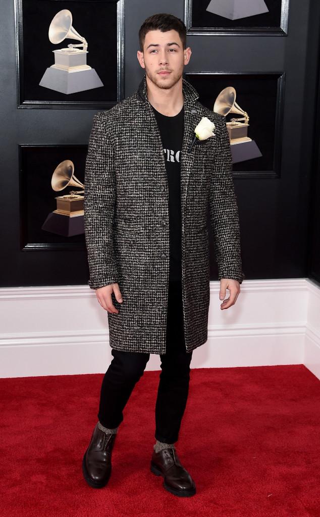 Nick Jonas, 2018 Grammy Awards, Red Carpet Fashions