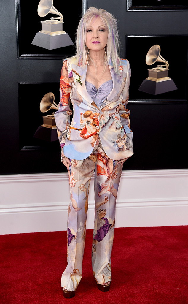 Cyndi Lauper, 2018 Grammy Awards, Red Carpet Fashions
