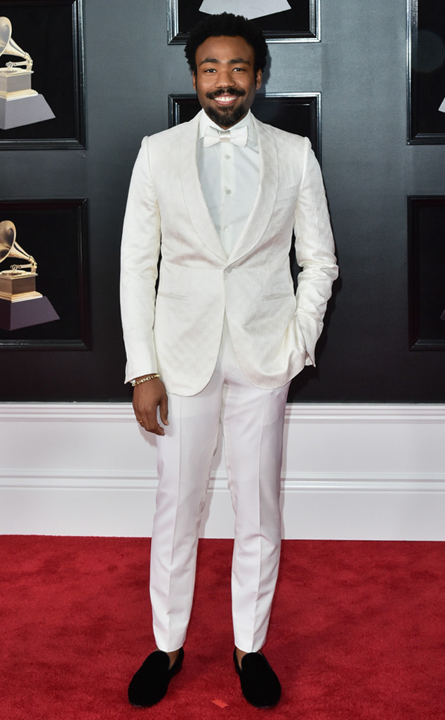 Childish Gambino, Donald Glover, 2018 Grammy Awards, Red Carpet Fashions