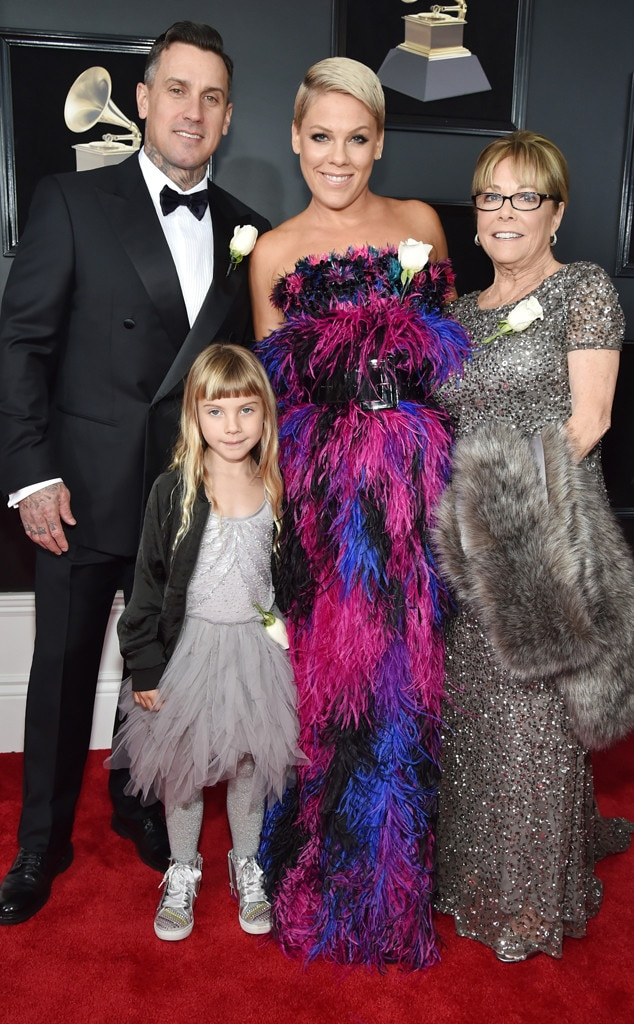 Carey Hart, Willow Sage Hart, Pink, Judith Moore, 2018 Grammy Awards