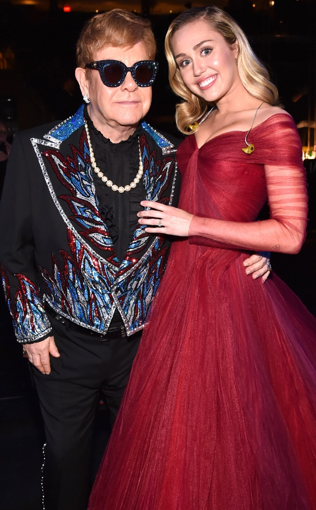 Miley Cyrus, Elton John, 2018 Grammy Awards, Candids