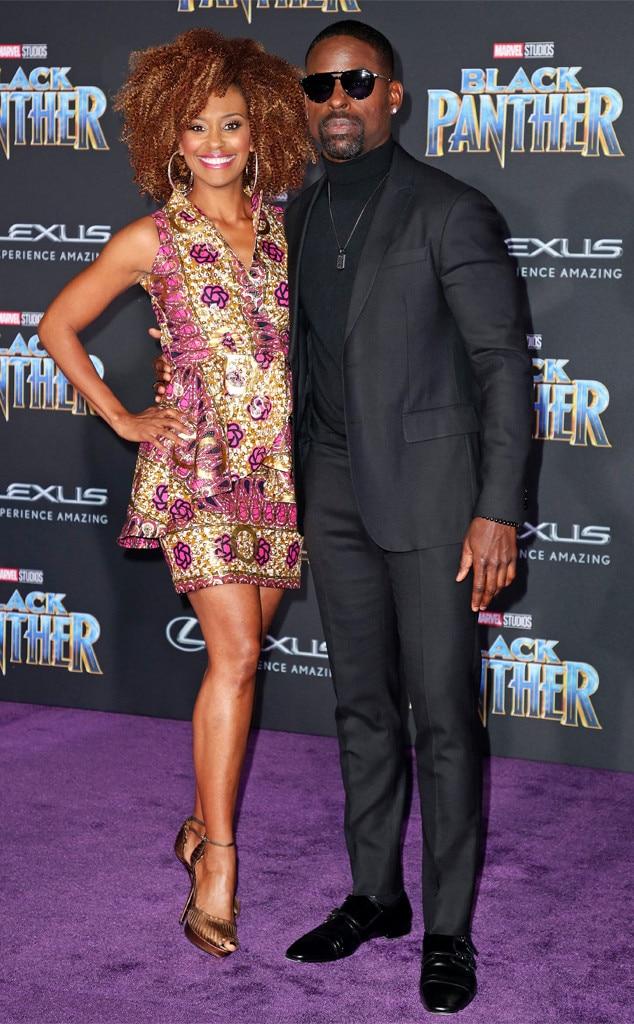 Ryan Michelle Bathe, Sterling K. Brown, Black Panther premiere