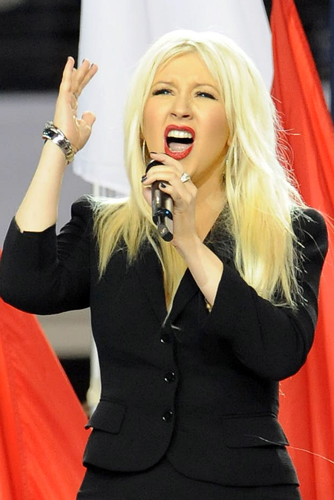 Christina Aguilera, 2011 Super Bowl, Anthem