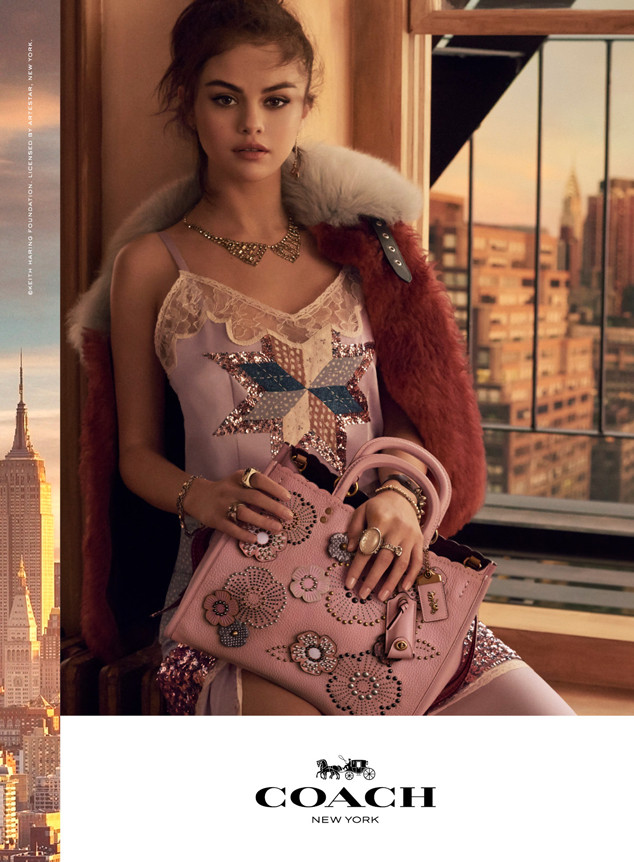 selena gomez is on top of the world in latest coach campaign e