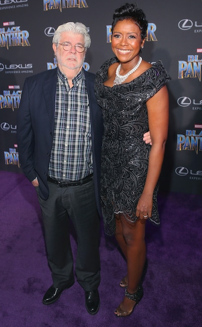 Mellody Hobson, George Lucas, Black Panther Premiere