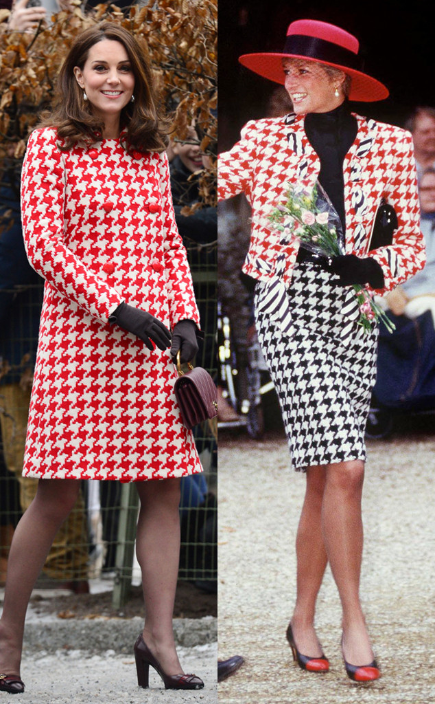 Princess Diana, Kate Middleton, Houndstooth