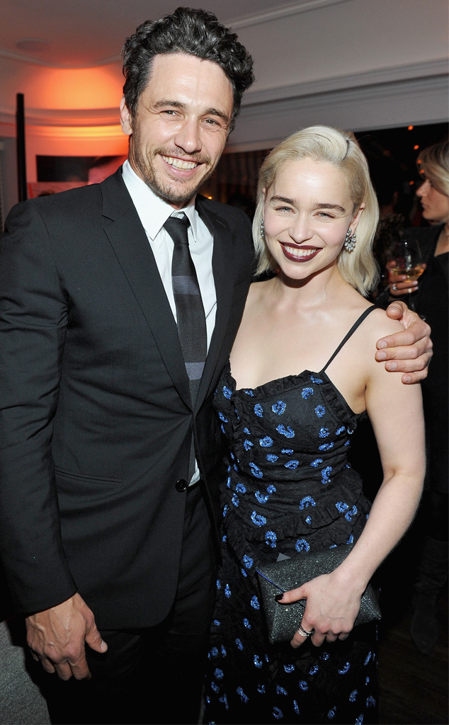 James Franco, Emilia Clarke, W Magazine, 2018 Golden Globes Party Pics