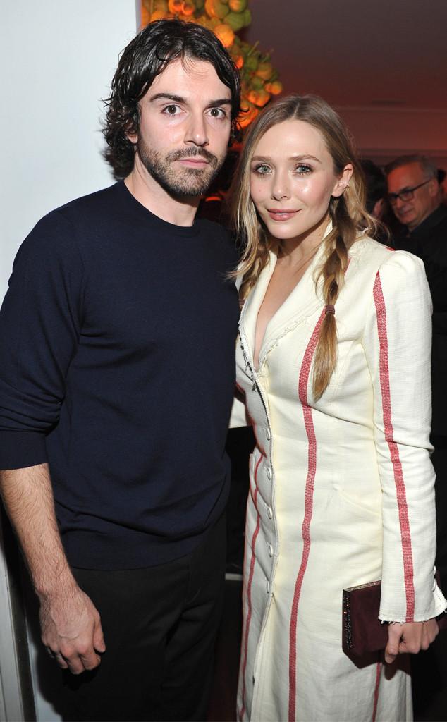 Robbie Arnett, Elizabeth Olsen, W Magazine, 2018 Golden Globes Party Pics