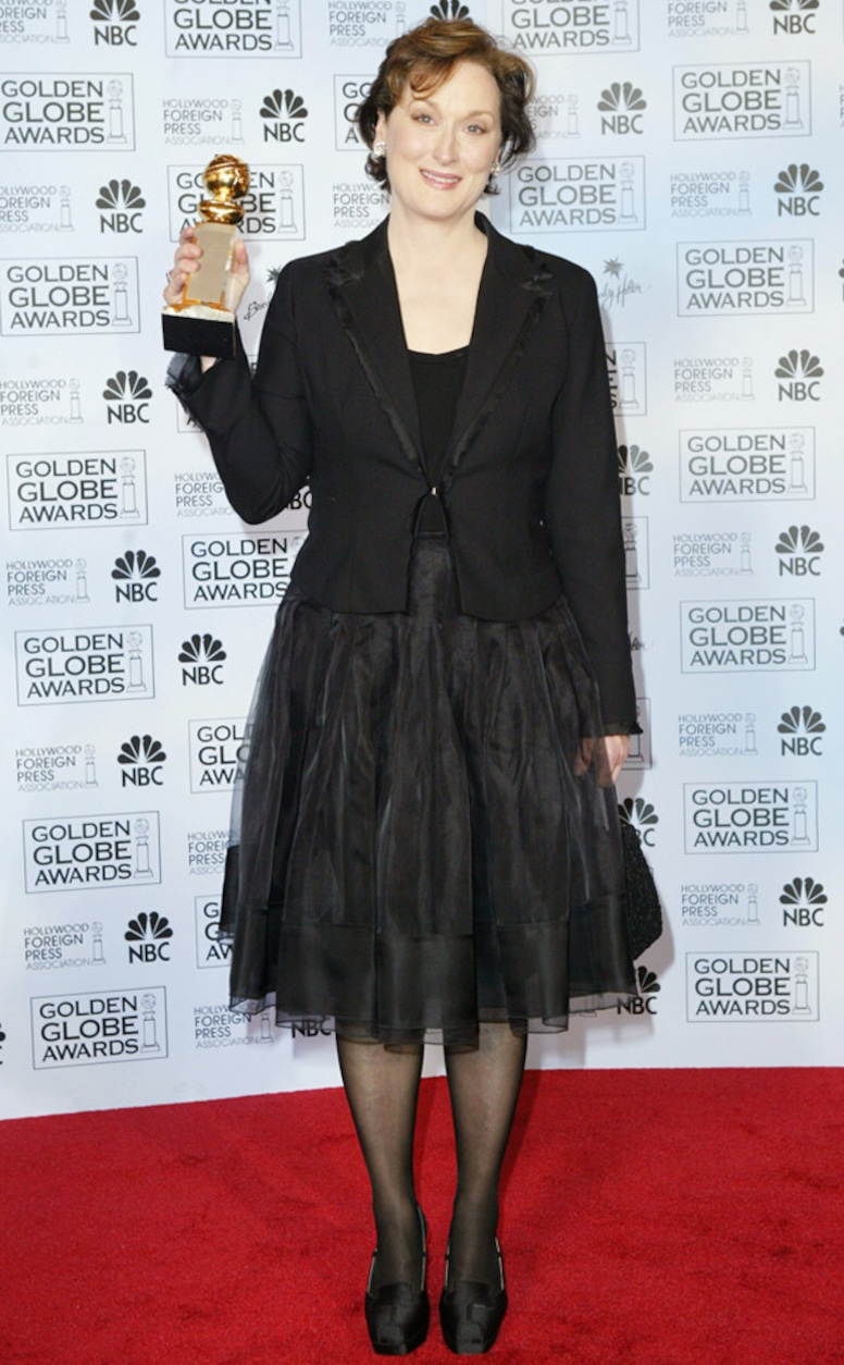 ESC: Golden Globes Dress Stories, Meryl Streep