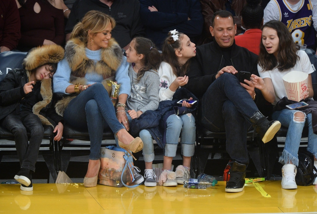 Jennifer Lopez, Alex Rodriguez, Kids
