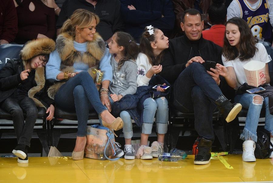 Jennifer Lopez, Alex Rodriguez, Kids