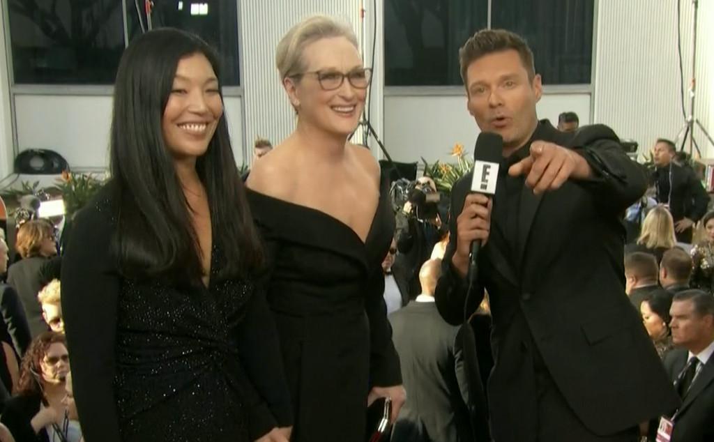 Meryl Streep, Ai-jen Poo, Golden Globes 2018