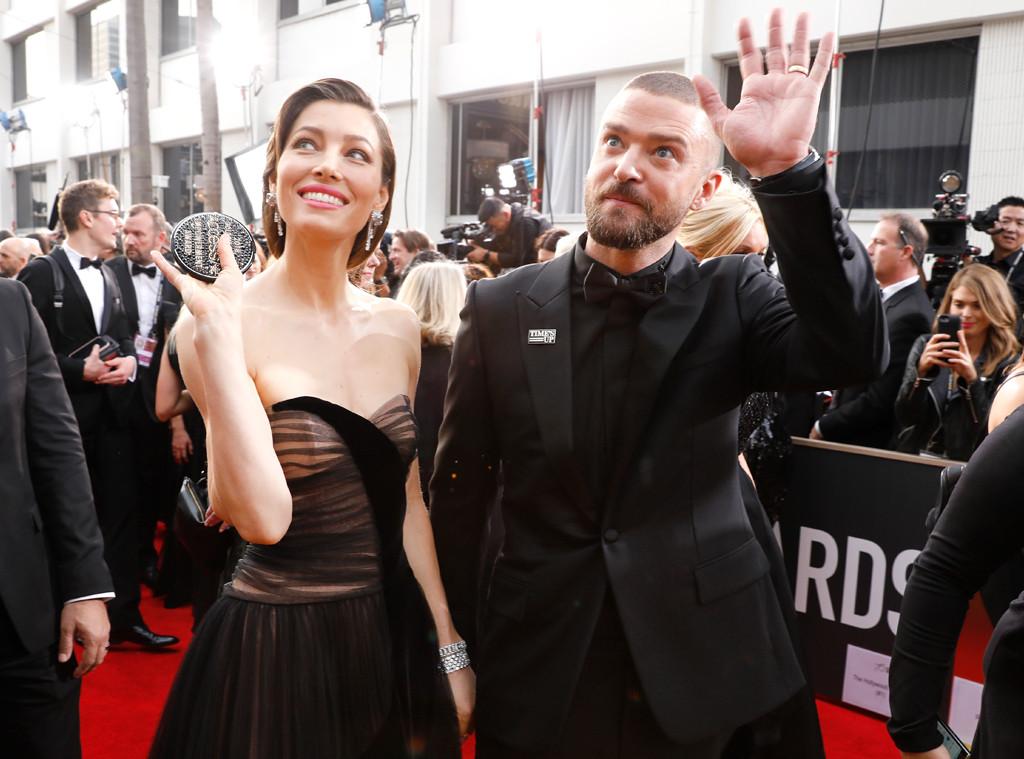 Justin Timberlake, Jessica Biel, 2018 Golden Globes, Candids