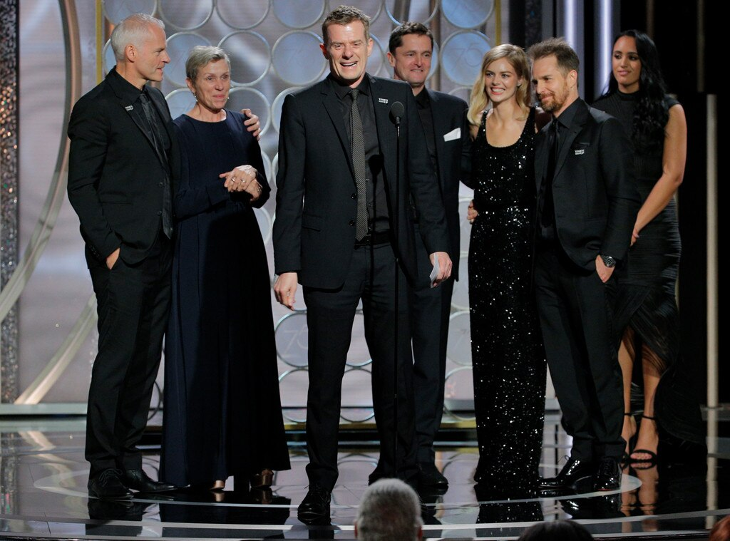 Graham Broadbent, Three Billboards Outside Ebbing, Missouri, 2018 Golden Globes, Winners