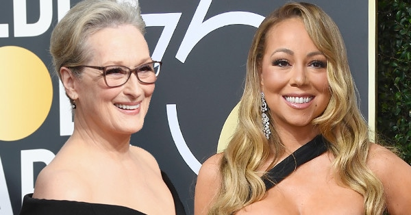 Mariah Carey, Meryl Streep, 2018 Golden Globes, Red Carpet Fashions