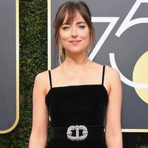 Dakota Johnson, 2018 Golden Globes, Red Carpet Fashions