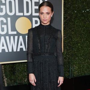 Alicia Vikander, 2018 Golden Globes, Red Carpet Fashions
