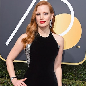 Jessica Chastain, 2018 Golden Globes, Red Carpet Fashions
