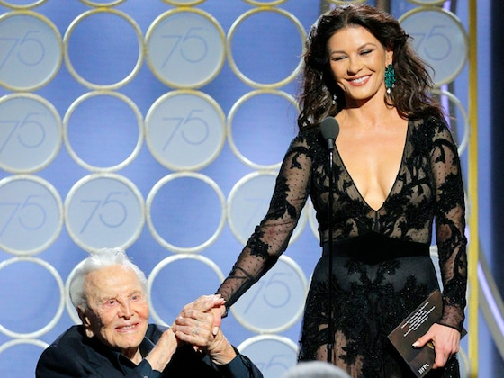 "Catherine Zeta-Jones Pays Tribute to ""Beautiful Man"" Kirk Douglas on 102nd Birthday"