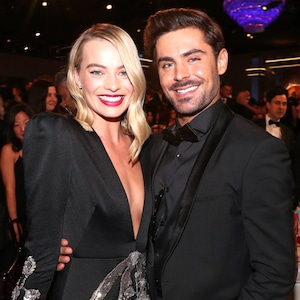 Margot Robbie, Zac Efron, 2018 Golden Globes, Candids