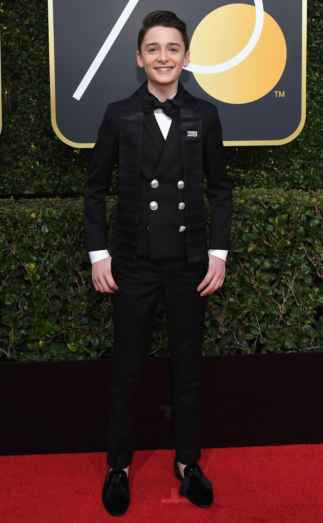 Noah Schnapp From 2018 Golden Globes Red Carpet Fashion