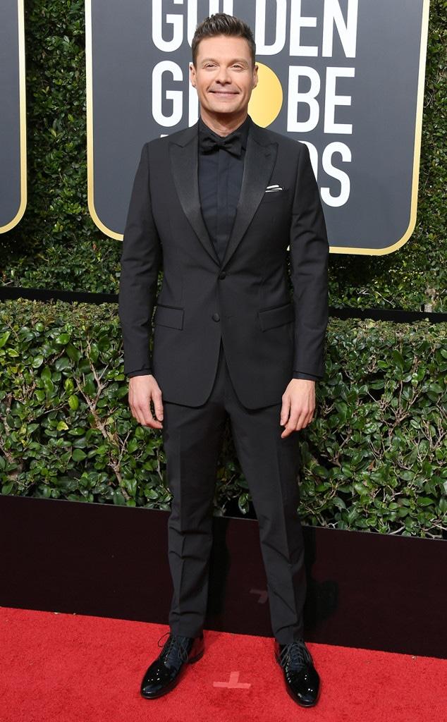 Ryan Seacrest, 2018 Golden Globes, Red Carpet Fashions