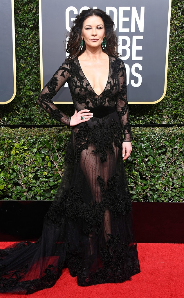 Catherine Zeta-Jones, 2018 Golden Globes, Red Carpet Fashions