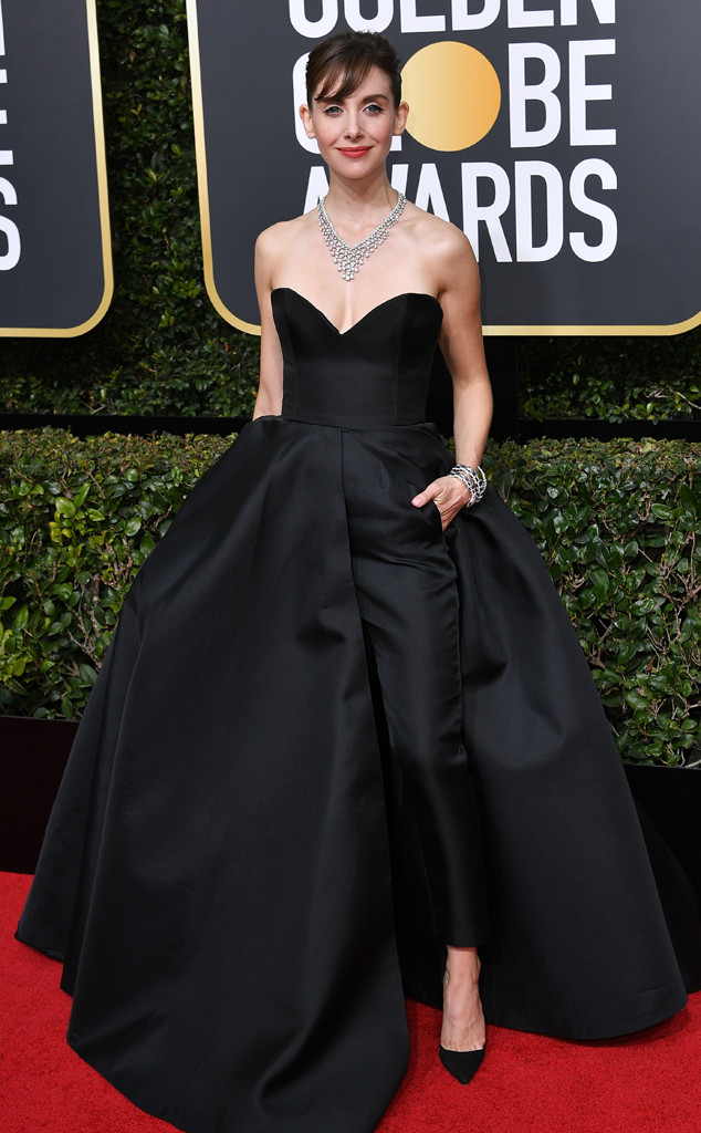 Alison Brie, 2018 Golden Globes, Red Carpet Fashions