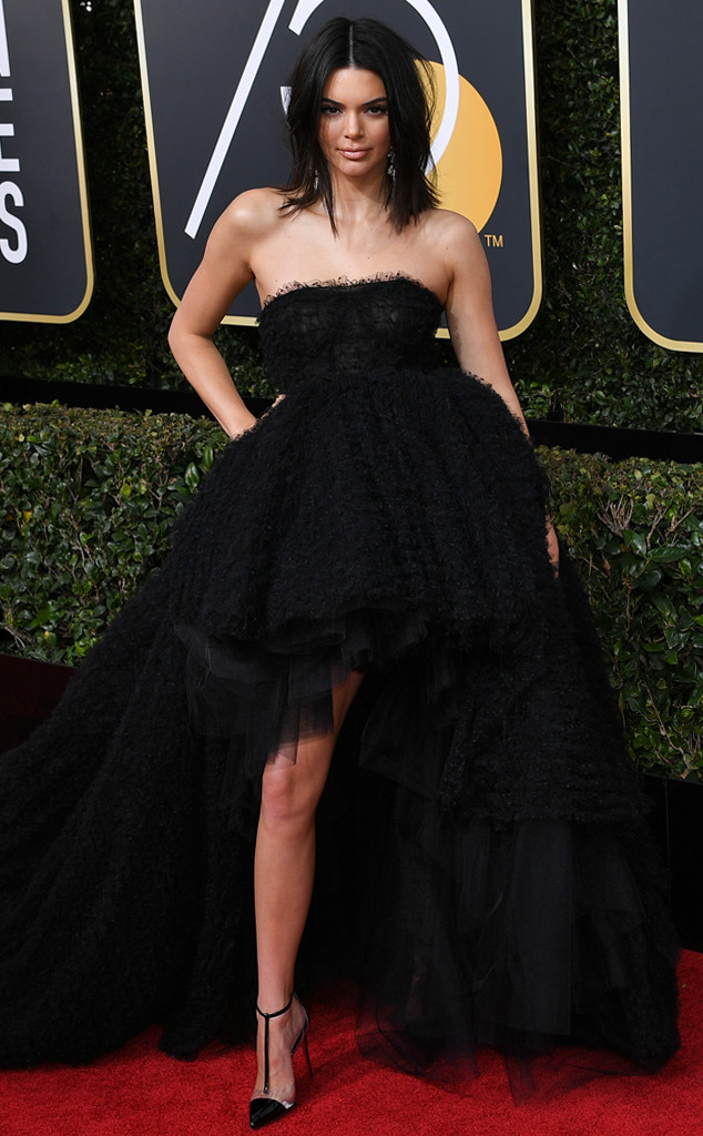 Kendall Jenner, 2018 Golden Globes, Red Carpet Fashions
