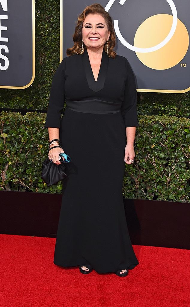 Roseanne Barr, 2018 Golden Globes, Red Carpet Fashions