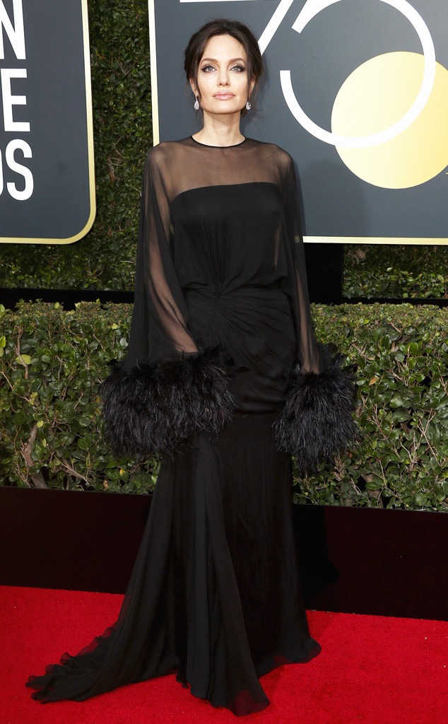 Angelina Jolie, 2018 Golden Globes, Red Carpet Fashions